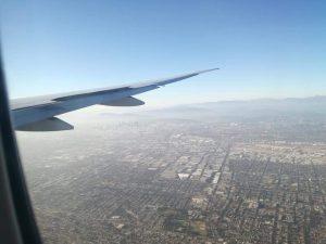 Landing at LAX airport. Los Angeles vista dall'aereo. - Pronti per il primo giorno negli Stati Uniti