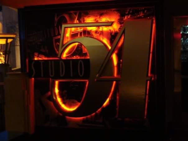 Insegna all'ingresso dello Studio 54, che ha lasciato spazio all'Hakkasan, all'interno dell' MGM Grand Las Vegas Scoprire Las Vegas