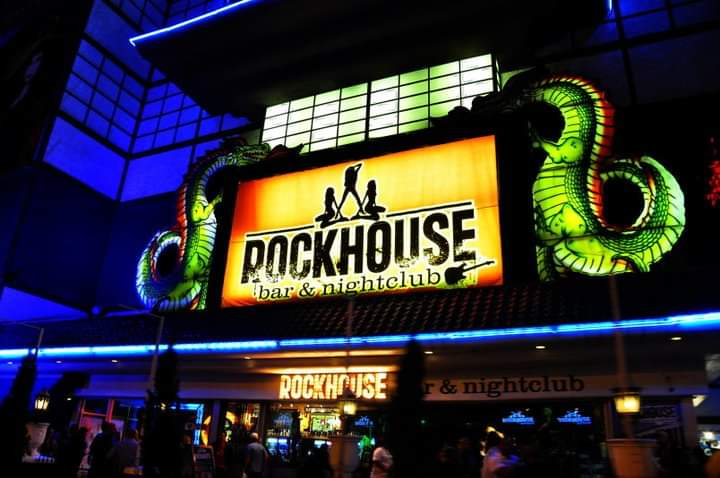 Rockhouse bar & nightclub all'ingresso dell' Imperial Palace, che ha lasciato spazio al The Linq Scoprire Las Vegas