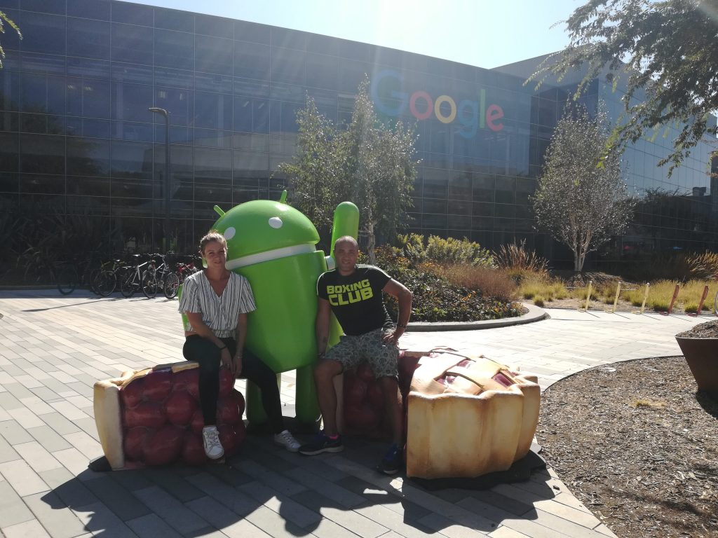 Android Pie all'ingresso del Googleplex - Mountain View