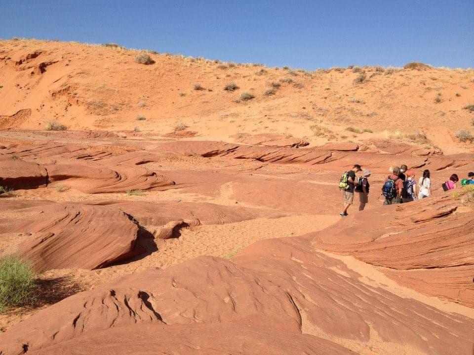 Percorso per raggiungere a piedi l'ingresso del Lower Antelope Canyon - Page scegliere Upper o Lower Antelope Canyon
