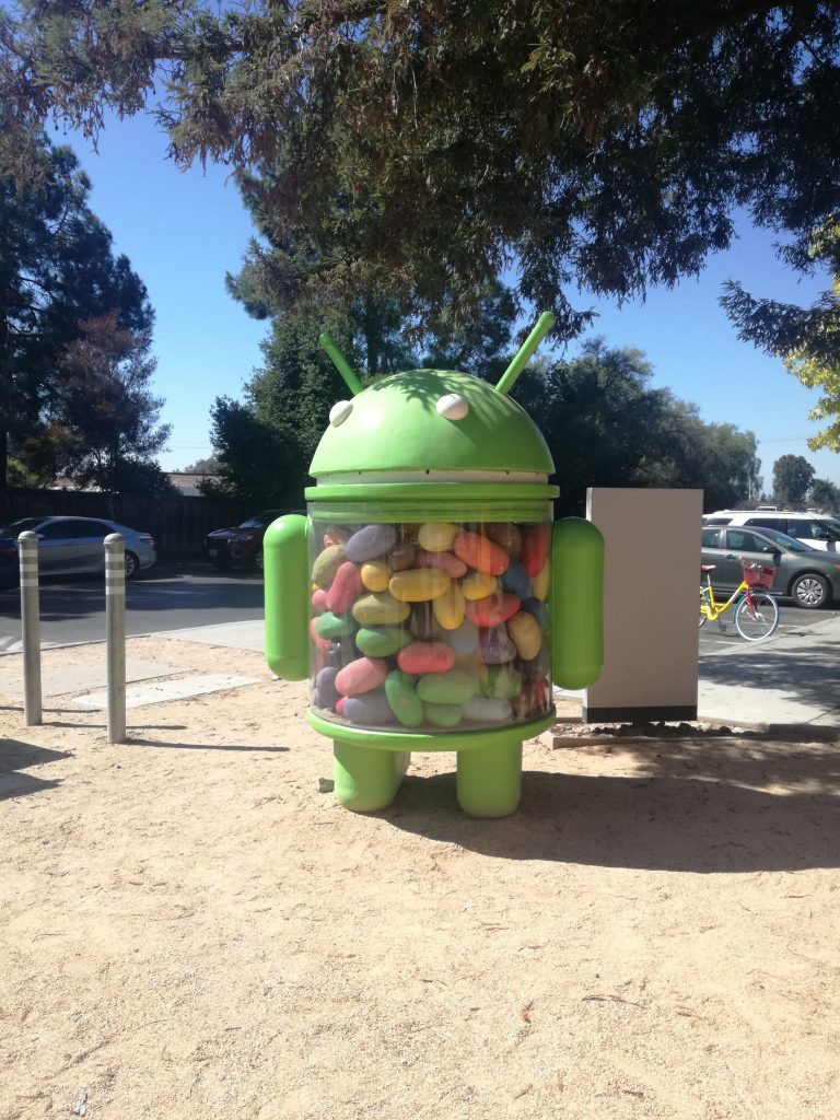 Google Android Lawn Statue - 1981 Landing Drive - Mountain View Googleplex