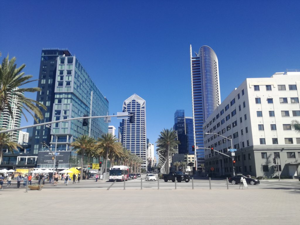 San Diego Skyline - Vista dall'Embarcadero Visita di San Diego