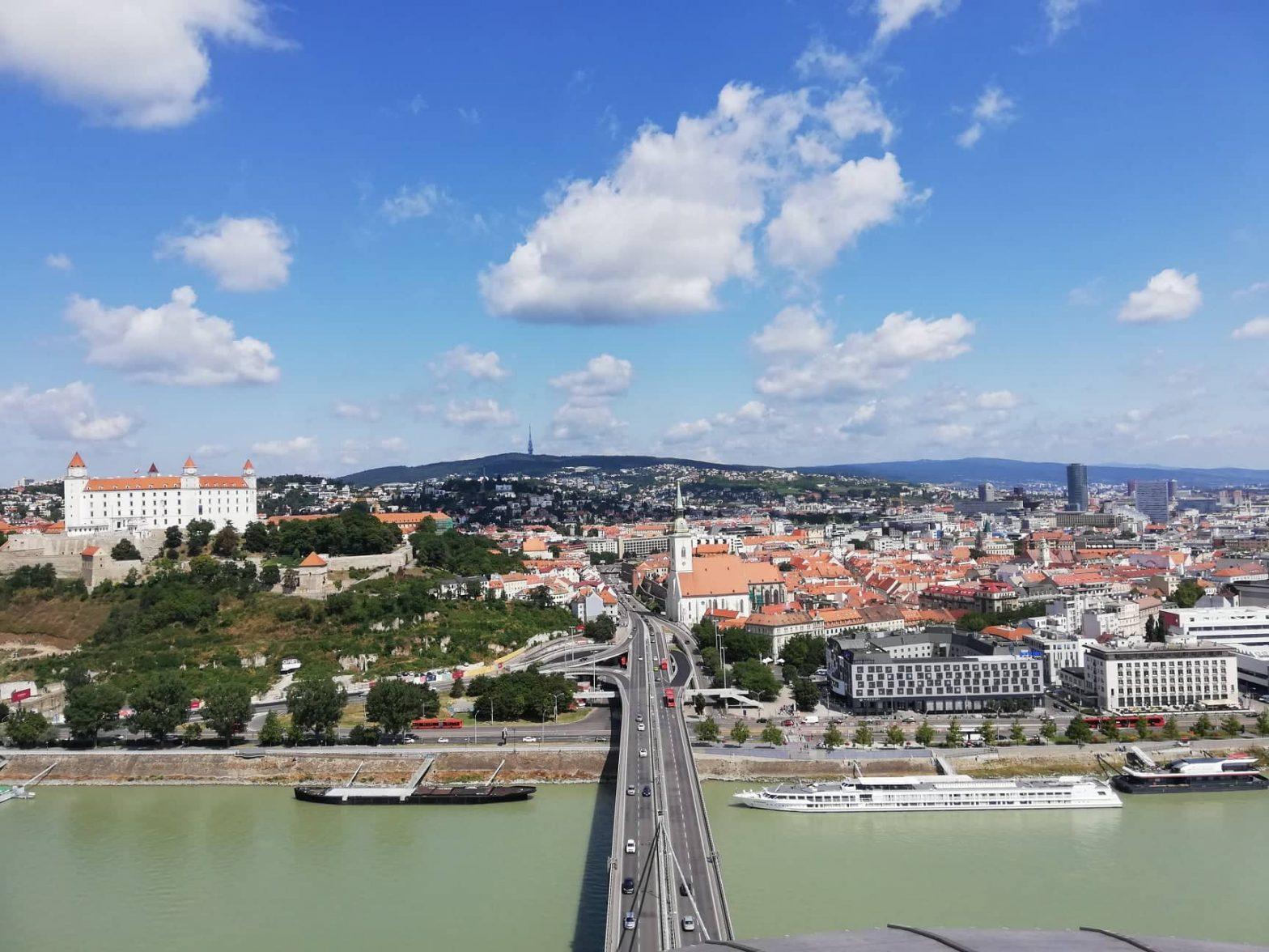 Bratislava dalla Ufo Tower