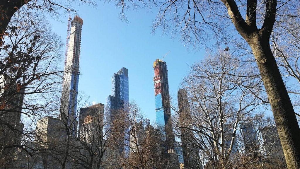 Vista sui grattacieli di Manhattan da Central Park