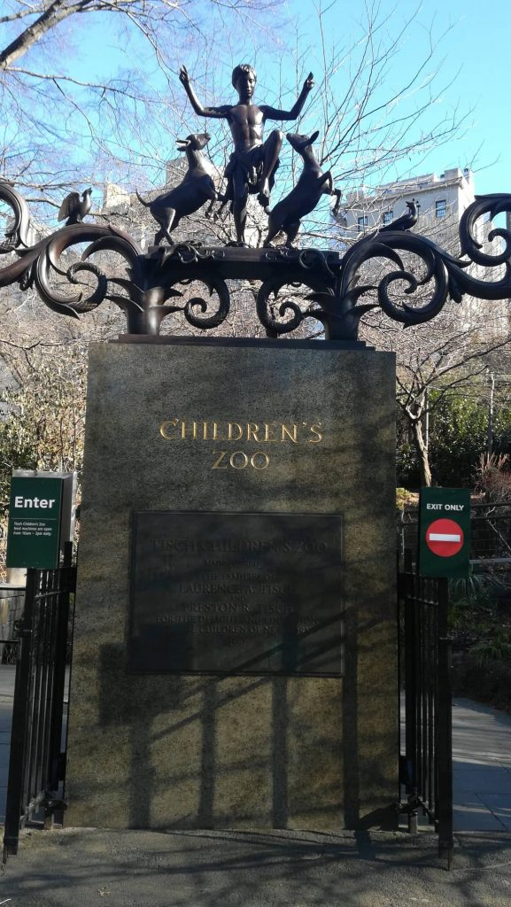 L'ingresso allo Zoo della città in Central Park - visita Manhattan