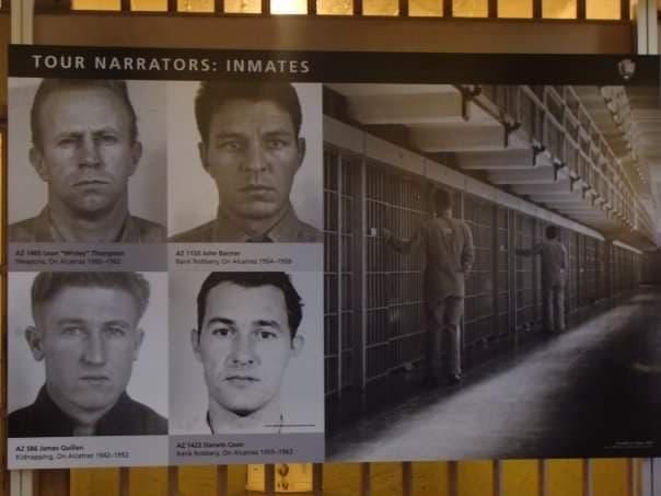 Narratori del tour della visita alla prigione di Alcatraz - I carcerati