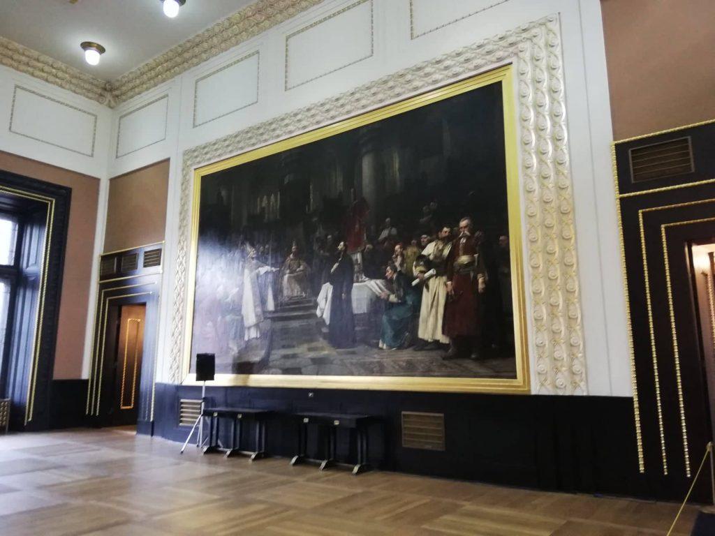 tour del Municipio della città Vecchia di Praga Sala di Brozik - Dipinto