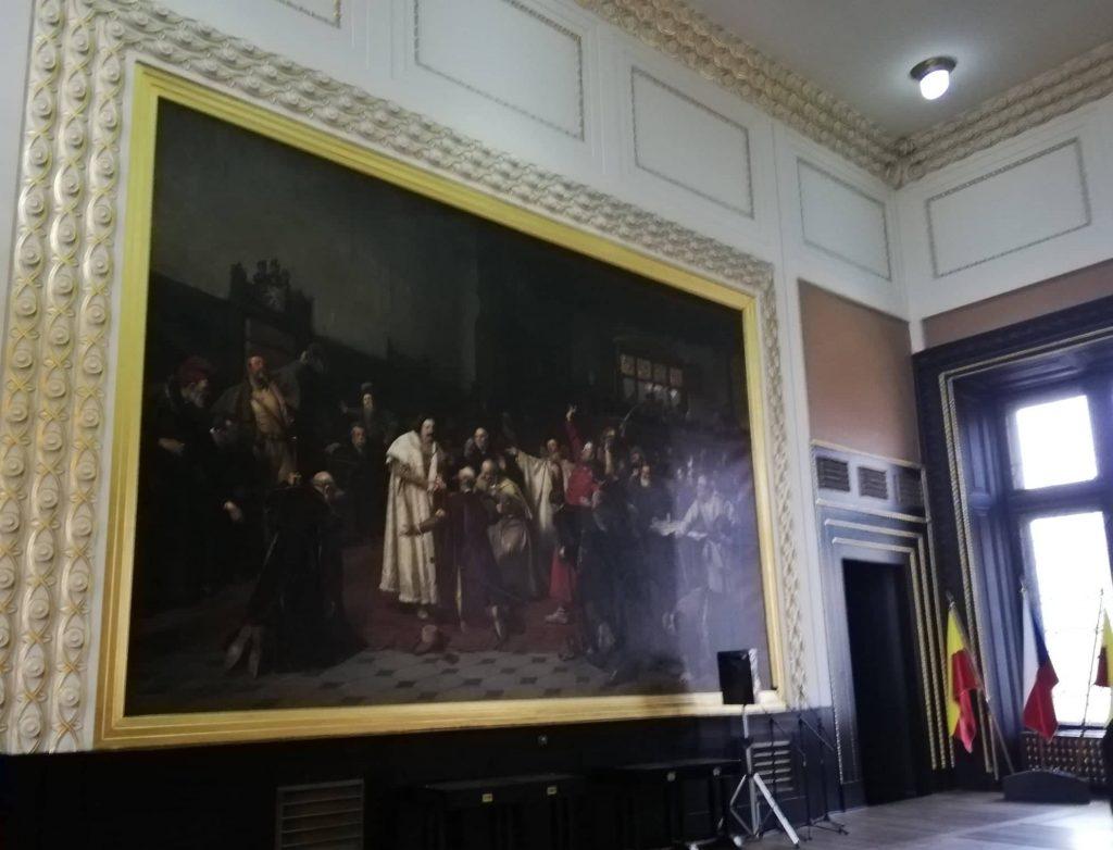tour del Municipio della città Vecchia di Praga Sala di Brozik dipinto laterale