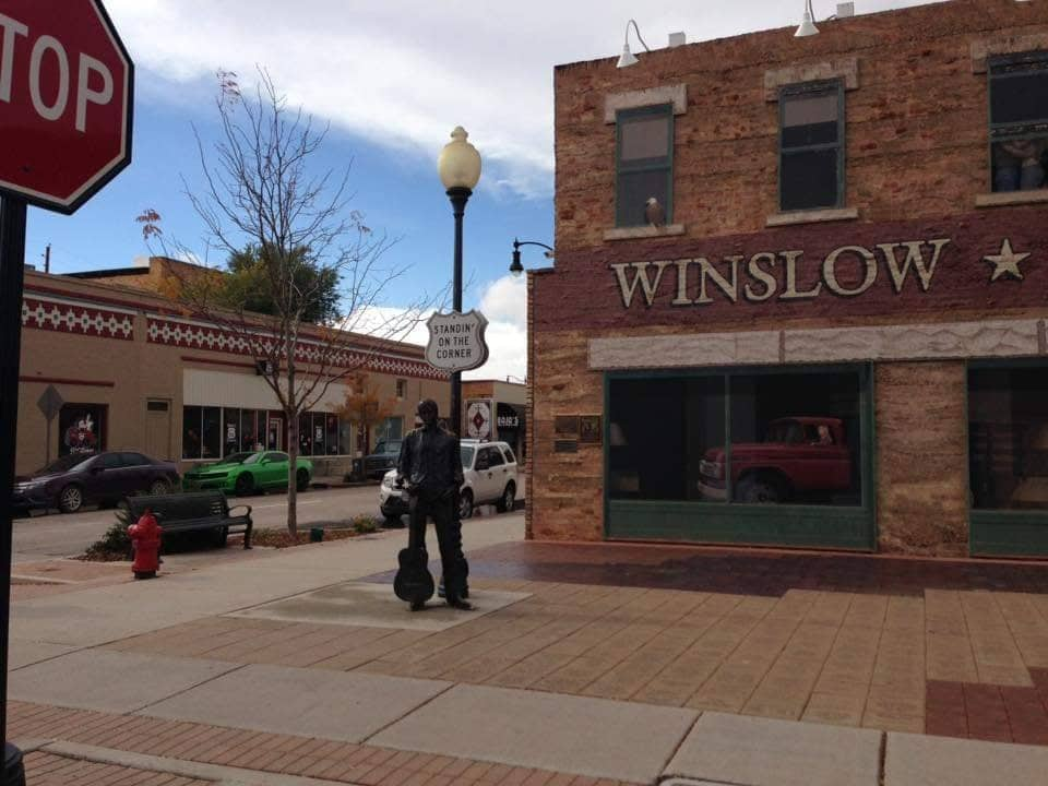 Route 66 in Arizona, Winslow Standin on the corner