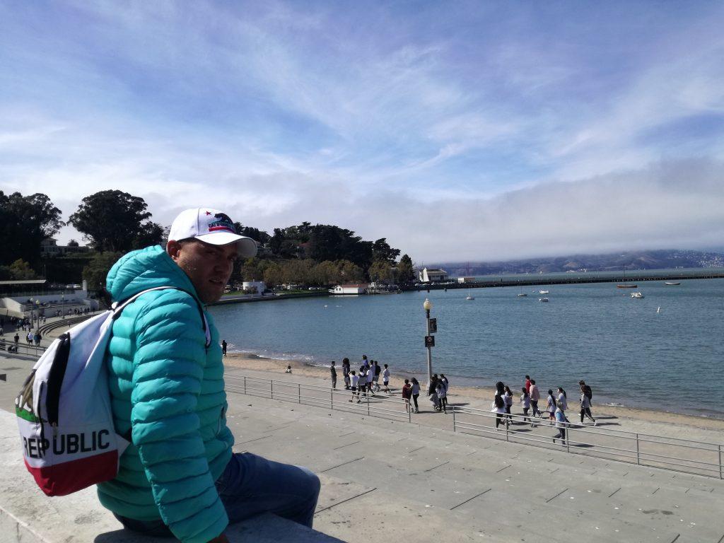 Vista sull'oceano vicino al Ghirardelli Park San Francisco