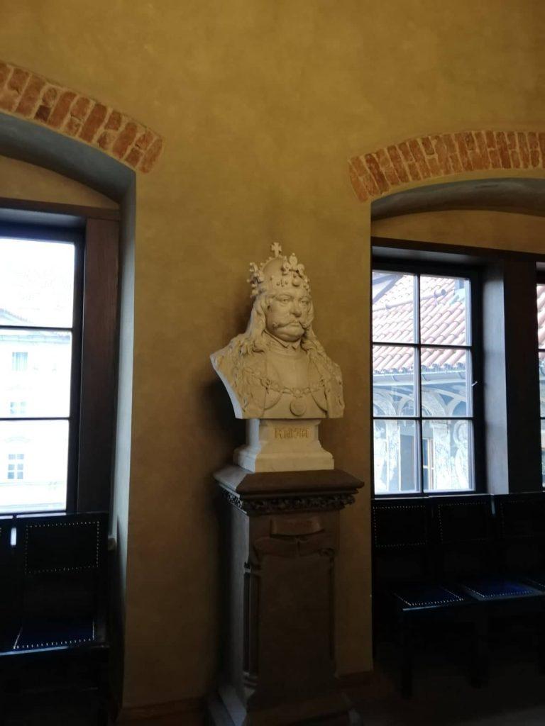 Busto del Re Giorgio - Old Town Hall Praga tour del Municipio della città Vecchia di Praga