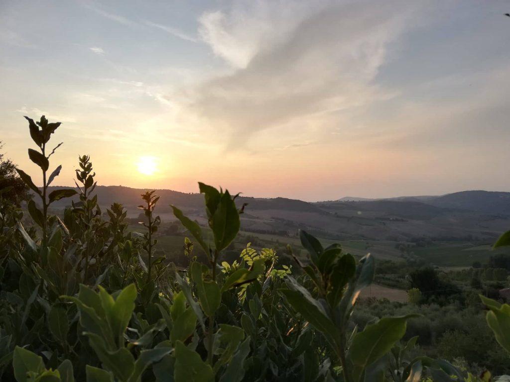 Tramonto dal tempio di San Biagio sulle colline Toscane visita Montepulciano vino e cantine
