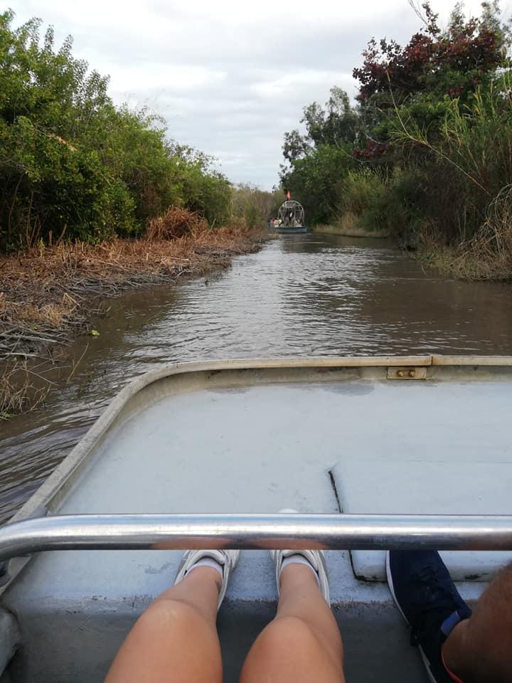 Tour Airboat - Tenere i piedi alzati nelle prime file Everglades Alligator Farm