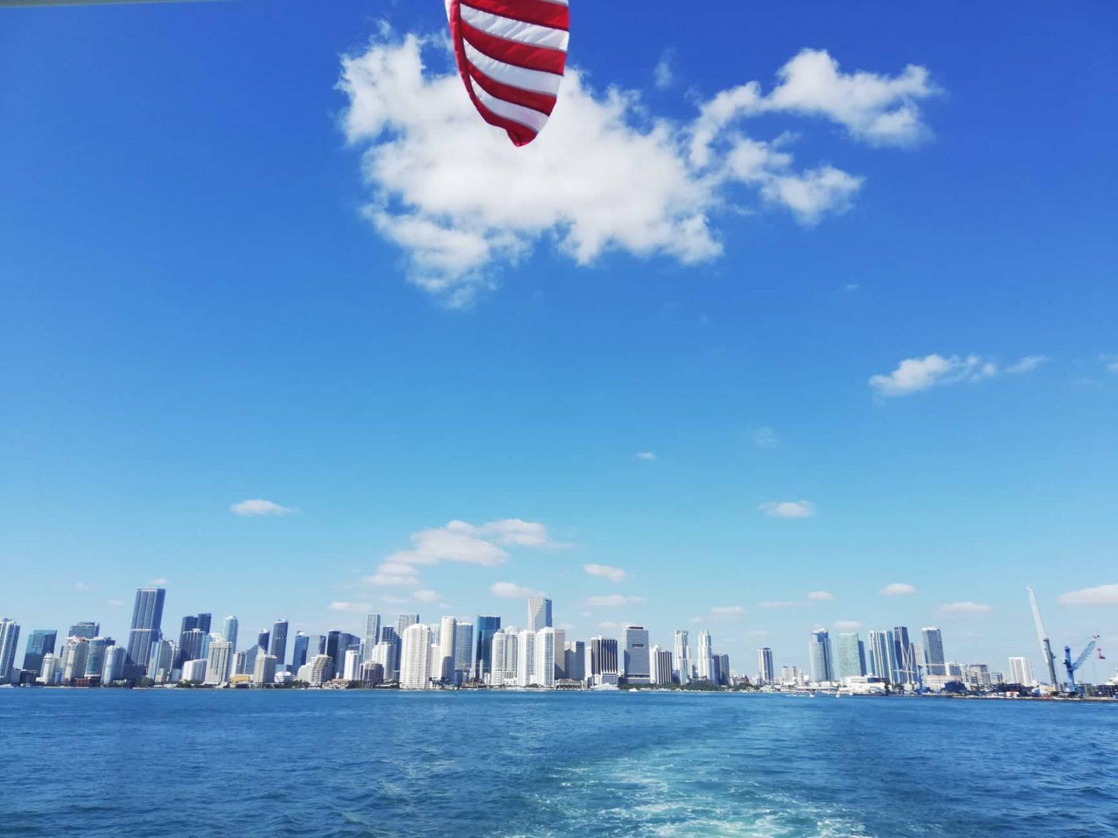 Millionaire's Row cruise Miami Skyline