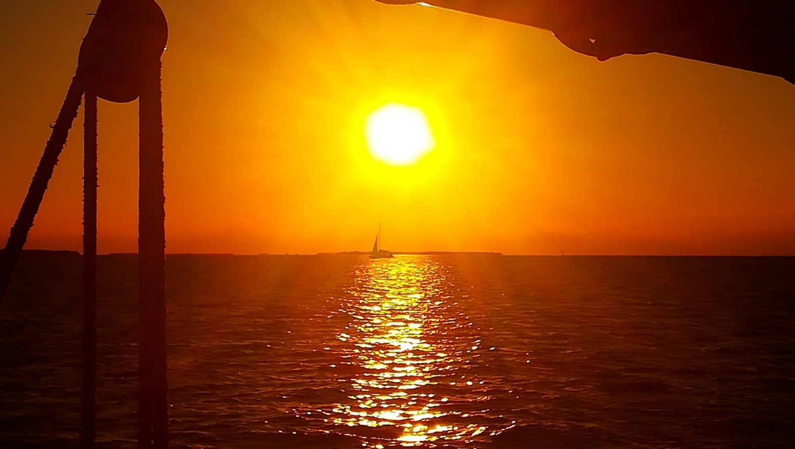 tramonto a Key West in Barca a vela