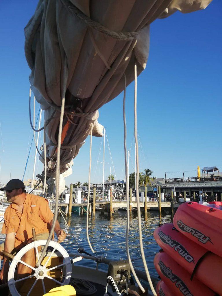 tramonto a Key West in barca a vela