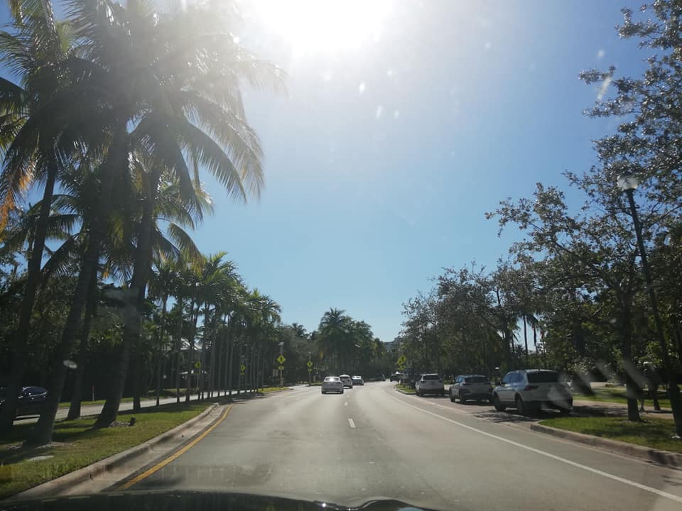 On the road verso il Paradiso di Key Biscayne - Crandon Blvd - Miami