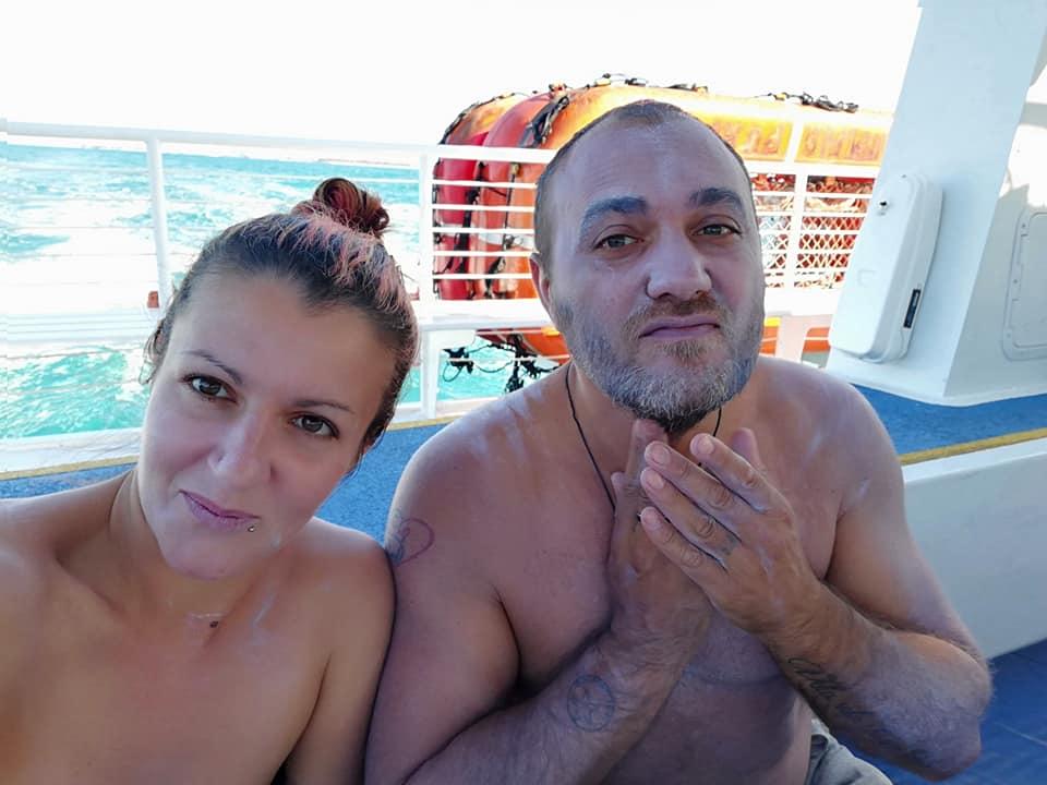 Dopo aver messo una densa protezione solare a bordo di Fury Key West - snorkeling tour - la nostra prima volta