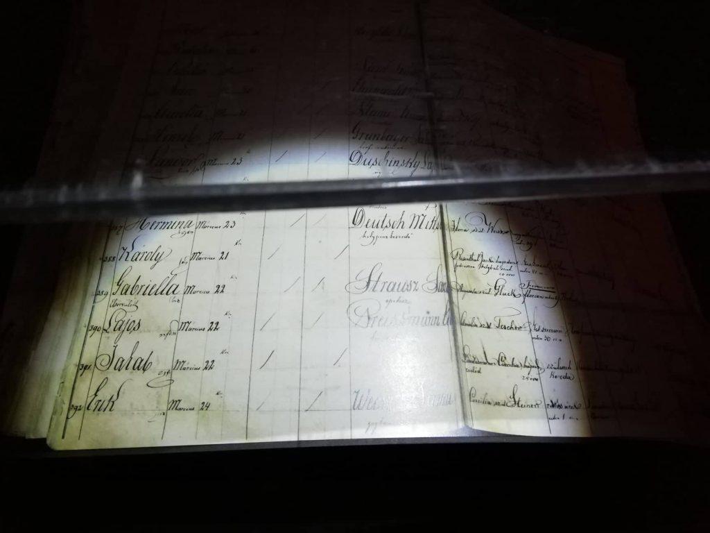 Cerificato di nascita di Erik Weisz (Houdini) - Museo di Houdini - Budapest