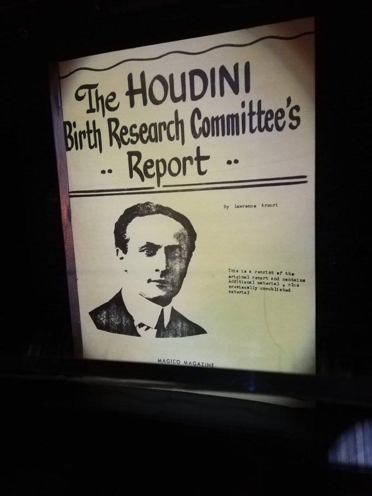 Museo Houdini Budapest foto Houdini