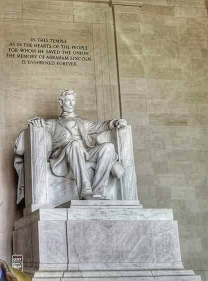 La statua di Lincoln al Lincoln Memorial di Washington