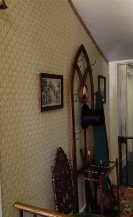 Attaccapanni bastone e cappello nella casa di Lincoln a Springfield - Illinois