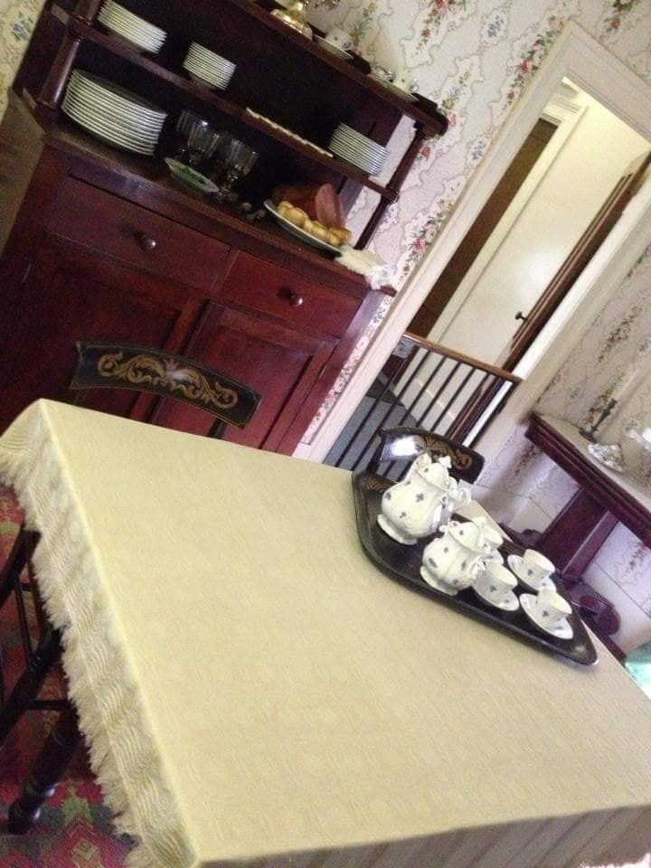 Sala da pranzo nella casa di Lincoln a Springfield - Illinois