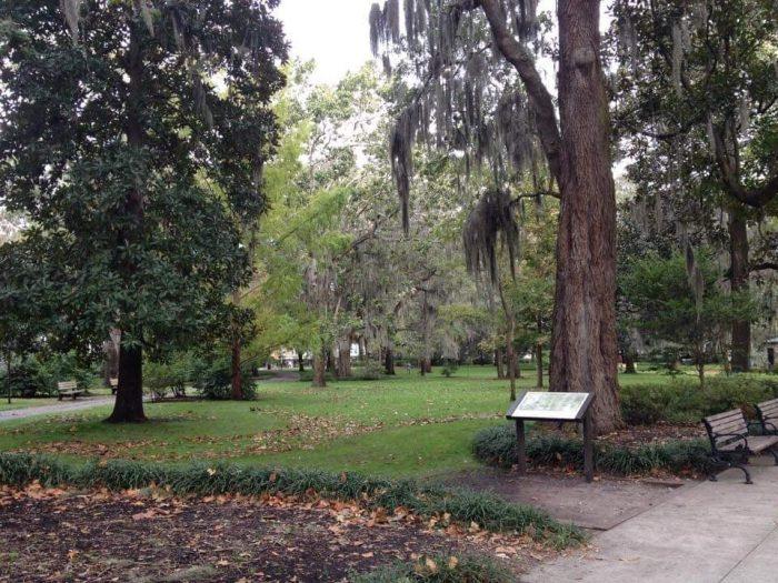 Forrest-Gump-location-Chippewa-square-Savannah set del cinema nei dintorni di Atlanta - la Hollywood del Sud in georgia