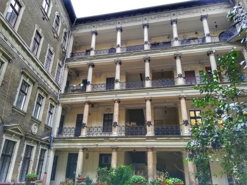 Dove dormire a Budapest Omega Guest House corte interna