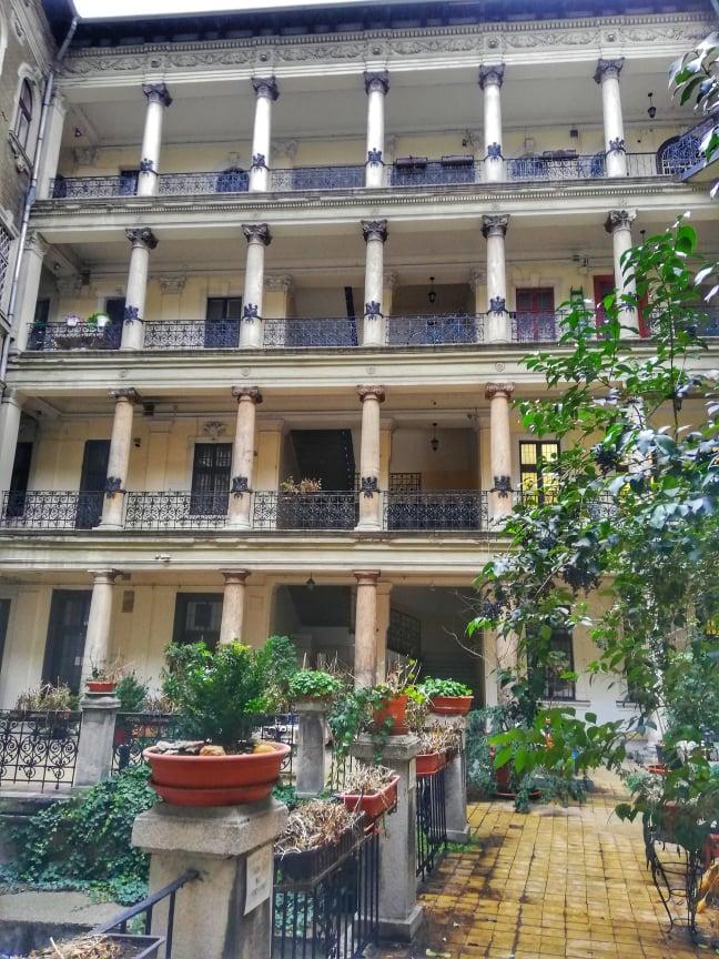 Corte interna Omega Guest House - Dove dormire a Budapest