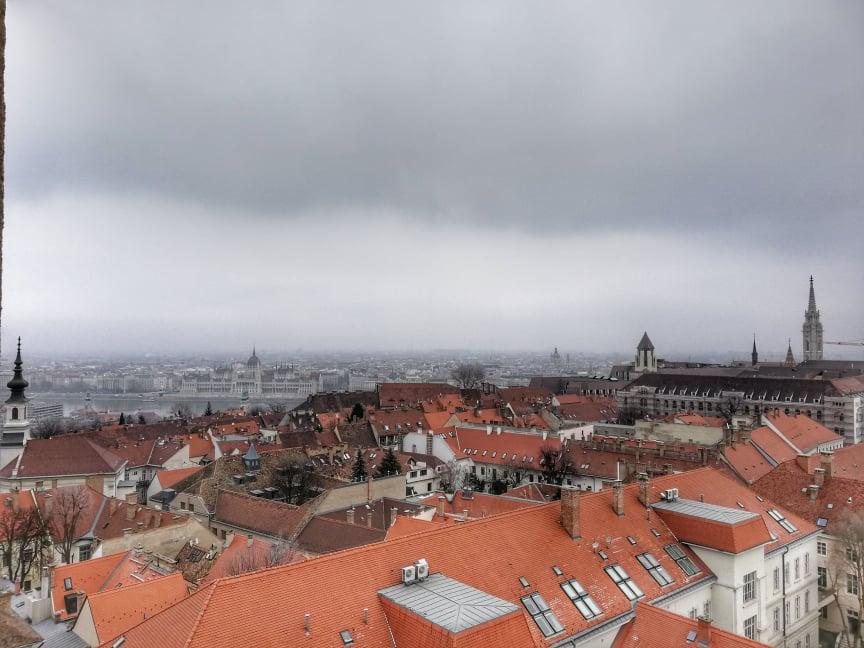Panorama dalla Torre di Buda su Pest