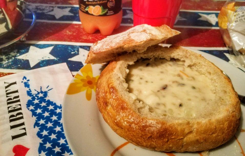 ricetta clam chowder zuppa di vongole homemade