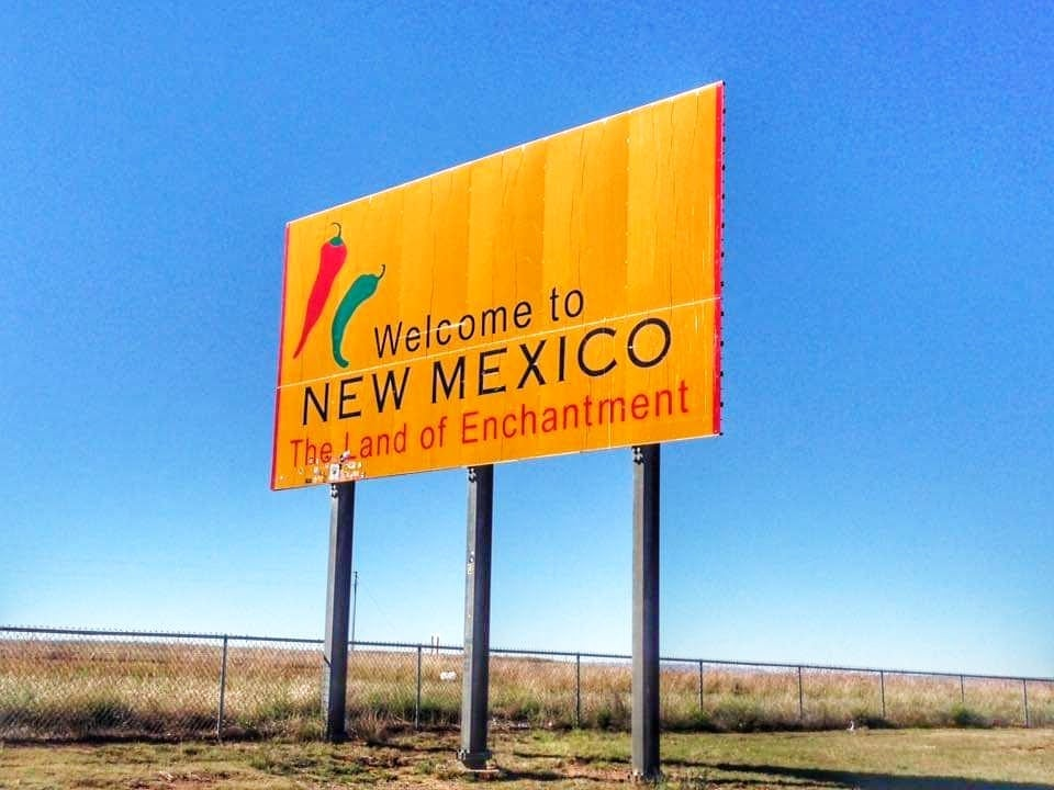 Attrazioni lungo la Route 66 New Mexico - Welcome to New Mexico Sign