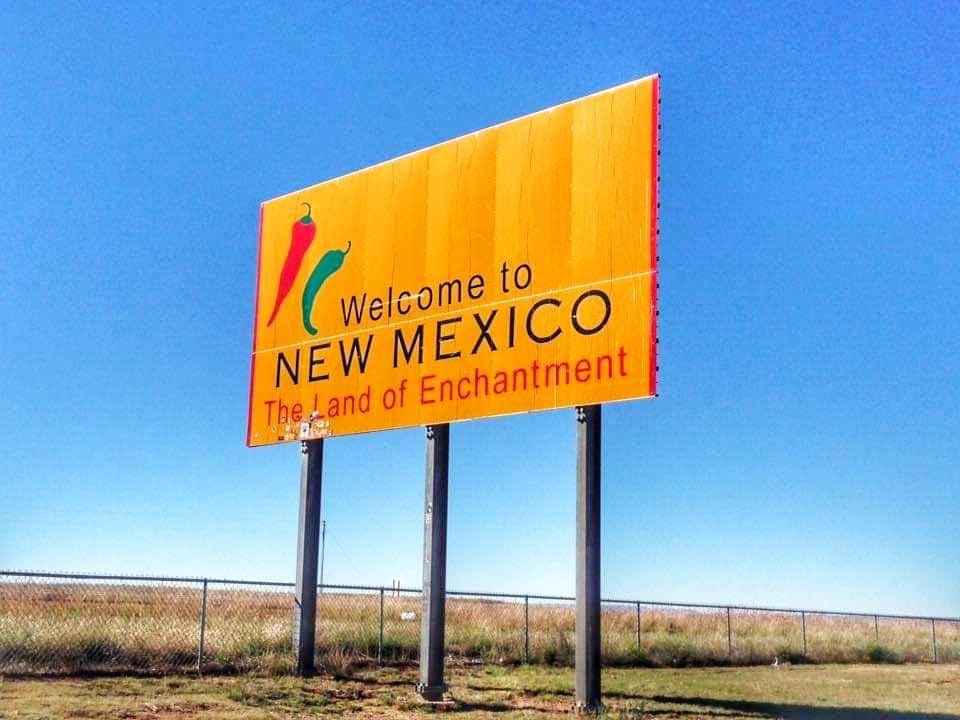 Attrazioni lungo la Route 66 New Mexico - Welcome to New Mexico Sign