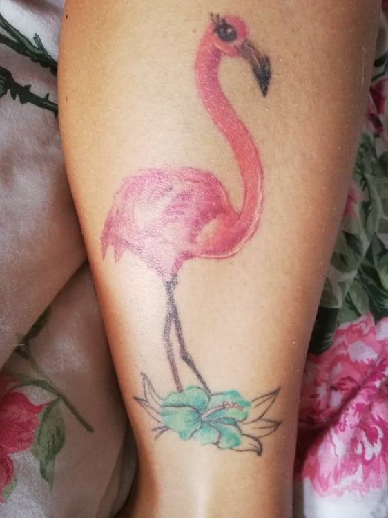 tatuaggi per viaggiatori fenicottero flamingo tattoo