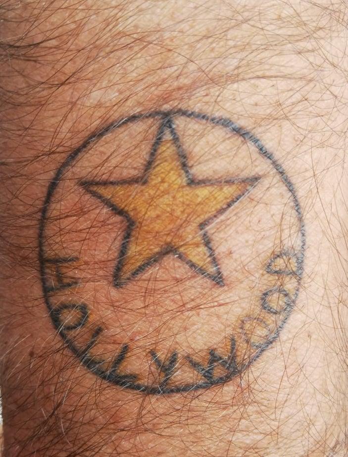 tatuaggi per viaggiatori Hollywood star