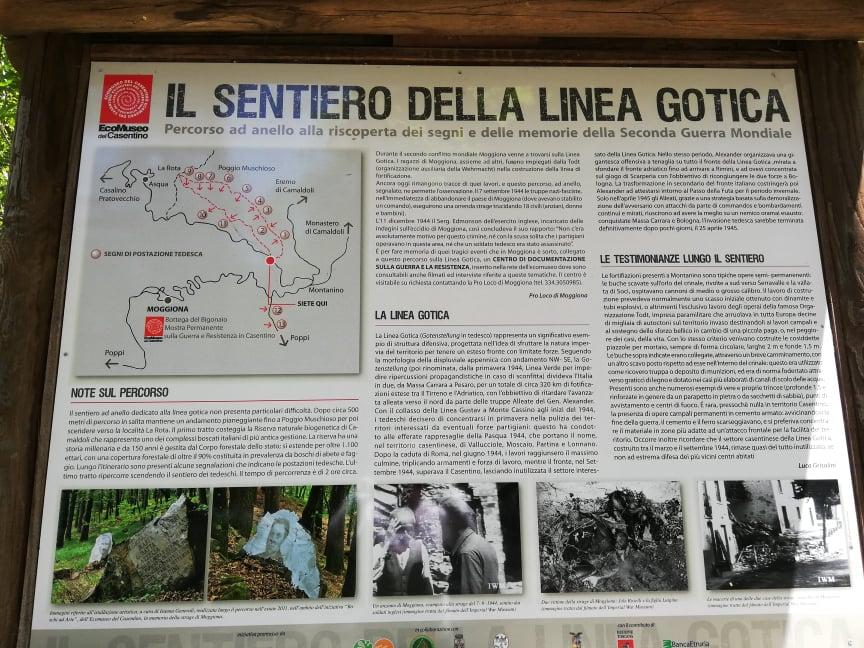 Il sentiero della Linea Gotica in Casentino