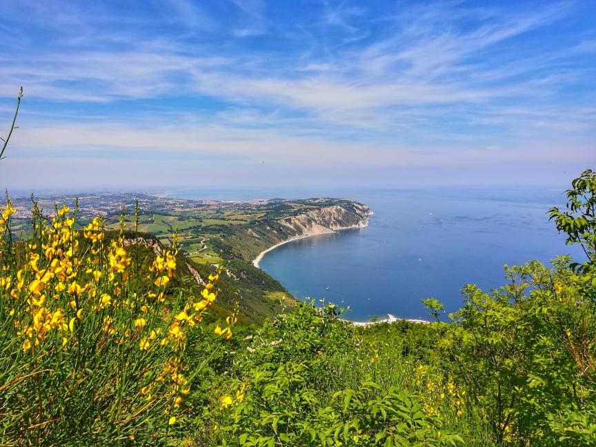 Panorama da Belvedere Sud - sentieri del Monte Conero