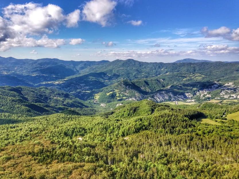 Panorama dal Monte Penna della Verna