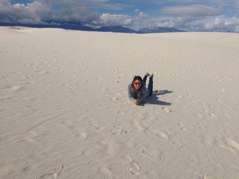 Rotolarsi nel deserto bianco delle White Sands National Park - New Mexico
