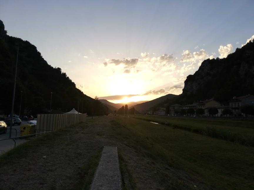 cosa vedere a Pioraco - tramonto