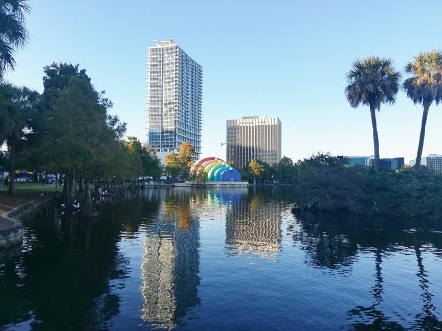 Lake Eola Park Orlando itinerario florida on the road