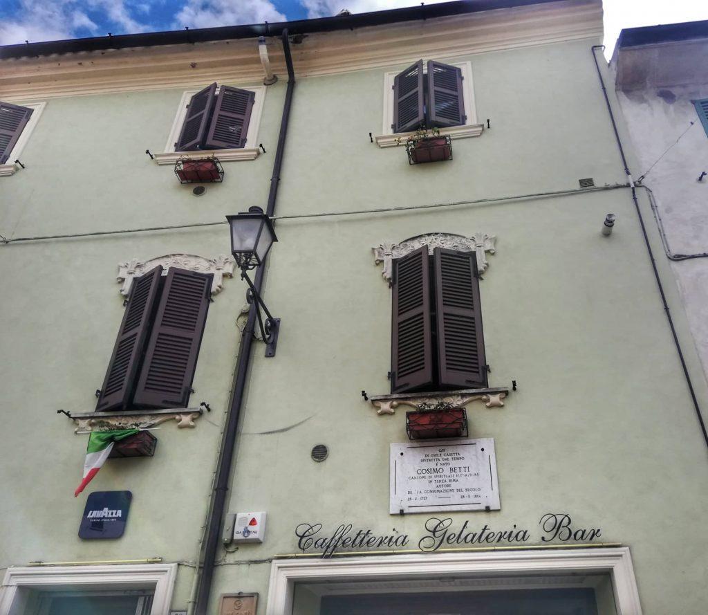 Targa casa natale Cosimo Betti Cosa vedere a Orciano di Pesaro