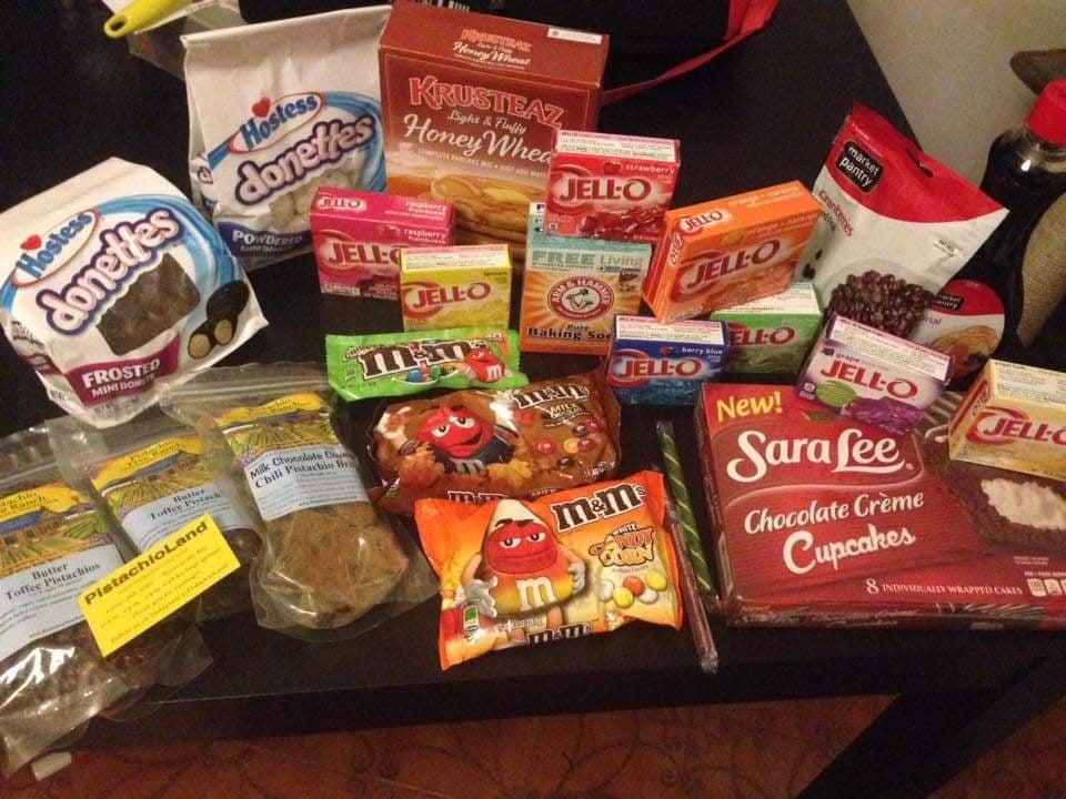 Jell'o e dolcezze varie dal Walmart fare la spesa in America
