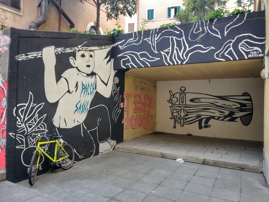 street art Ancona murales Capodimonte pacca sassi di Percy B