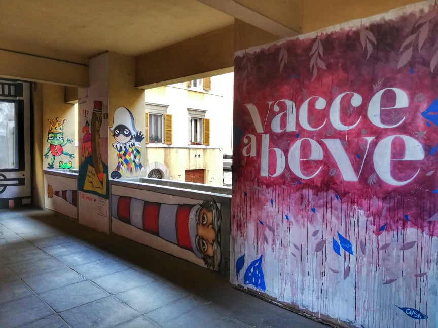 street art Ancona murales Capodimonte vacce a beve Gisa
