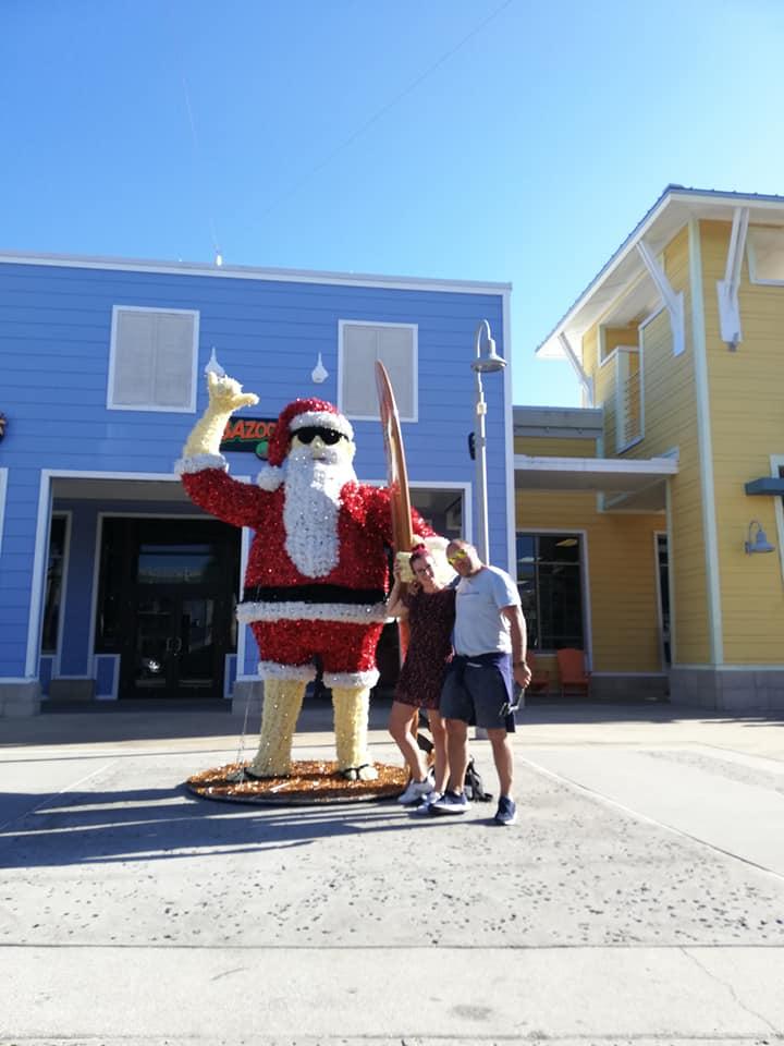 Percorrere la Costa Ovest della Florida - Foto con Babbo Natale a Panama Beach