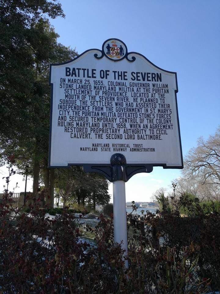 Battle of the Severn  Marker al Memoriale della Seconda Guerra Mondiale di Annapolis