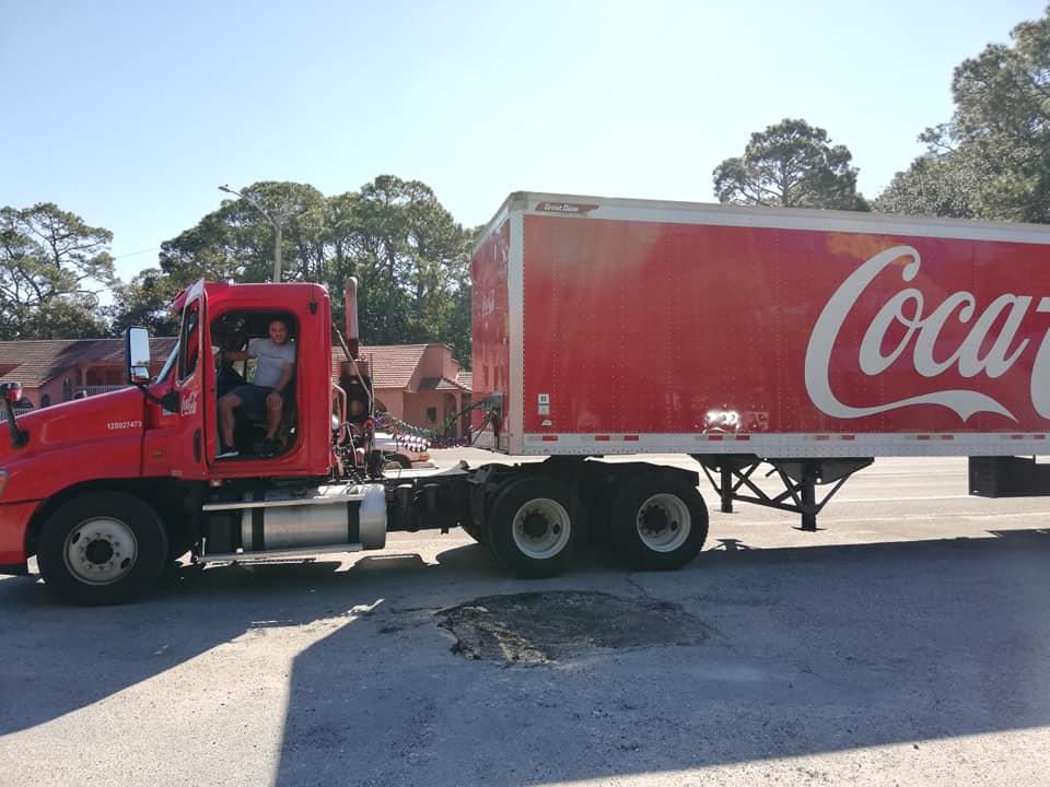 Percorrere la Costa Ovest della Florida - Camion Coca Cola
